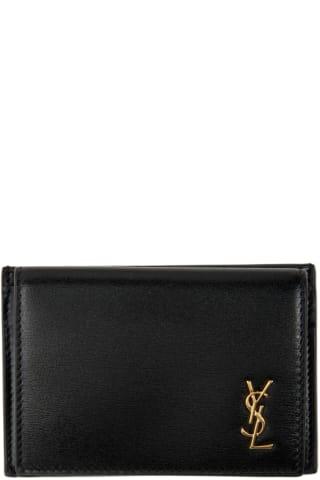 생 로랑 Saint Laurent Black Tiny Monogram Card Case