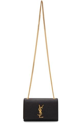 생 로랑 Saint Laurent Black Small Kate Chain Bag