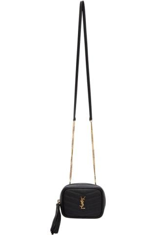 생 로랑 Saint Laurent Black Baby Lou Chain Bag