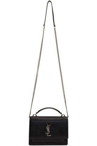 생 로랑 Saint Laurent Black Sunset Chain Wallet Bag