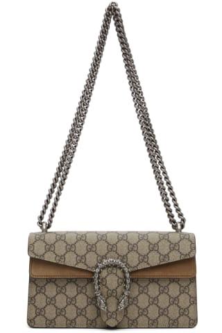 구찌 Gucci Beige Small GG Dionysus Shoulder Bag