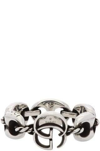 구찌 더블 G 마몬트 링 Gucci Double G Marmont Ring,Silver