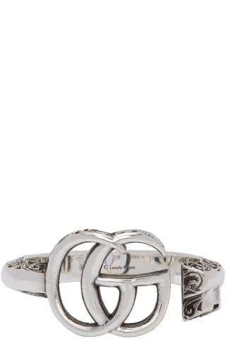 구찌 더블 G 마몬트 링 Gucci Silver Double G Marmont Ring