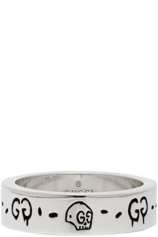 구찌 고스트 링 Gucci Silver G Ghost Ring