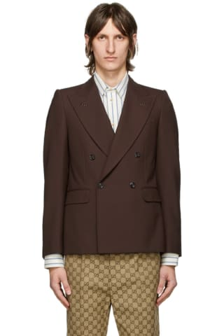 Gucci Brown Wool Double-Breasted Blazer