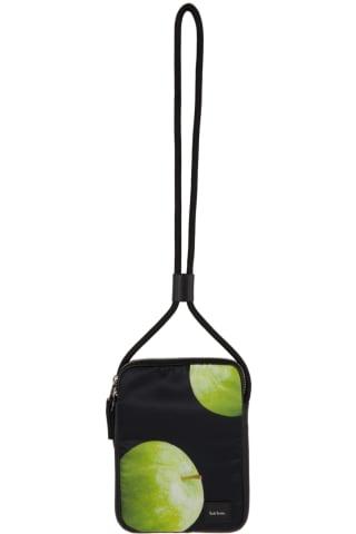 [폴 스미스 50주년] 그린애플 목걸이용 파우치 Paul Smith 50th Anniversary Black & Green Apple Neck Pouch,Printed