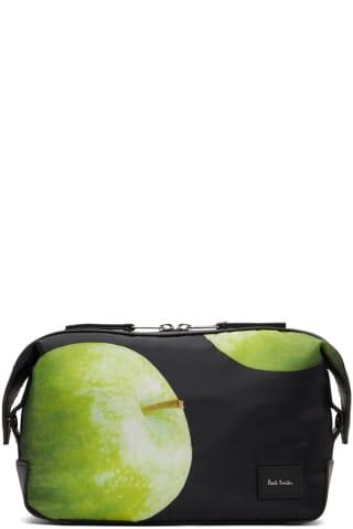 [폴 스미스 50주년] 그린애플 파우치 Paul Smith 50th Anniversary Black & Green Apple Wash Pouch,Printed