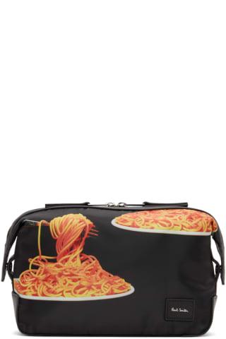 [폴 스미스 50주년] 스파게티 파우치 Paul Smith 50th Anniversary Black Spaghetti Wash Pouch,Printed
