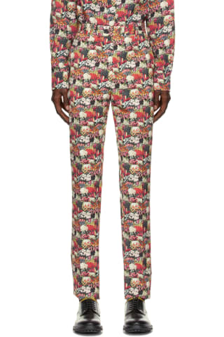 [폴 스미스 50주년] 멀티 컬러 바지 Paul Smith 50th Anniversary Multicolor Cotton Gents Trousers,Multicolor