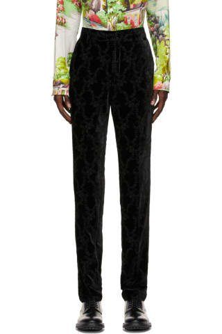 [폴 스미스 50주년] 벨벳 바지 Paul Smith 50th Anniversary Black Velvet Gents Trousers,Black