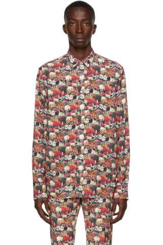 [폴 스미스 50주년] 테일러 셔츠 Paul Smith 50th Anniversary Multicolor Floral Tailored Shirt,Multicolor