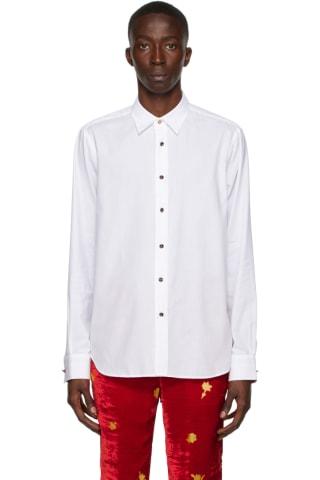 [폴 스미스 50주년] 테일러 셔츠 Paul Smith 50th Anniversary White Spaghetti Tailored Shirt