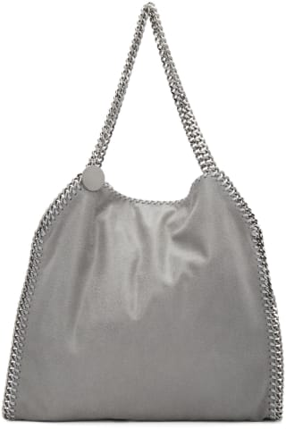 스텔라 맥카트니 Stella McCartney Grey Small Falabella Tote,Light grey