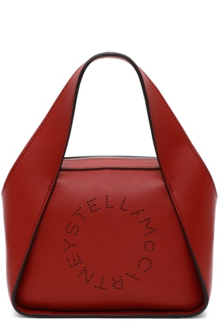 스텔라 맥카트니 Stella McCartney Red Small Logo Tote