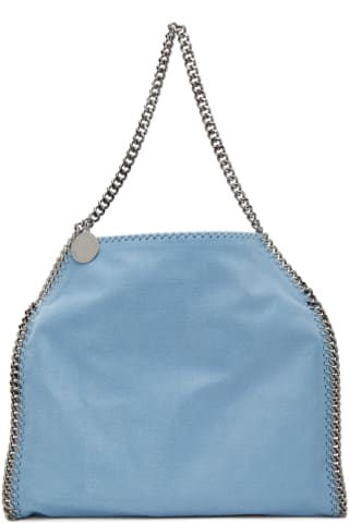 스텔라 맥카트니 Stella McCartney Blue Small Falabella Tote Bag,Light blue
