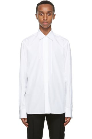Rochas Homme White Rebecca Braided Shirt