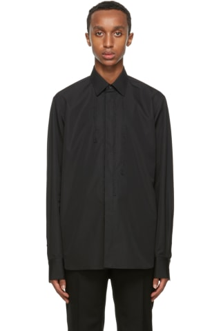 Rochas Homme Black Rebecca Braided Shirt