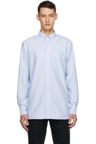 Drake Blue Oxford Regular Fit Shirt