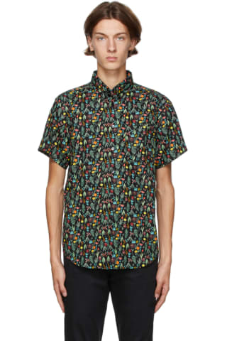Naked & Famous Denim Black Floral Shirt