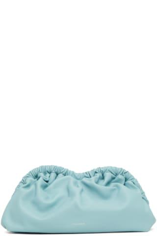 만수르 가브리엘 MANSUR GAVRIEL Blue Cloud Clutch,Degas blue