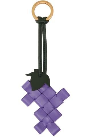 보테가 베네타 포도 열쇠고리 (선물 추천) Bottega Veneta Purple Intrecciato Grape Keychain
