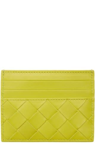 보테가 베네타 Bottega Veneta Green Intrecciato Card Holder,Kiwi
