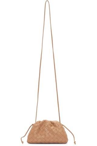 보테가 베네타 Bottega Veneta Tan Intrecciato Small The Pouch Clutch,Sandalwood