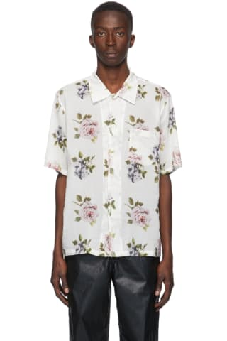 Our Legacy White Rose Print Box Short Sleeve Shirt