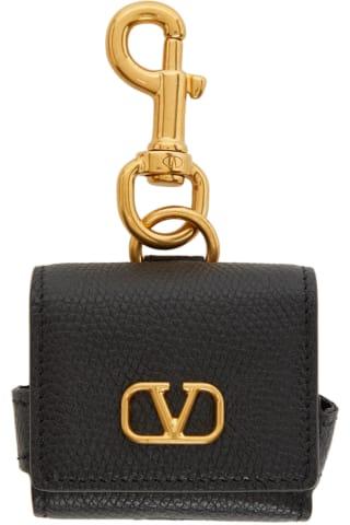 발렌티노 Valentino Black VLogo Earphone Case