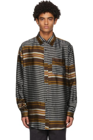 Schnayderman Multicolor Liquid Stripe Shirt