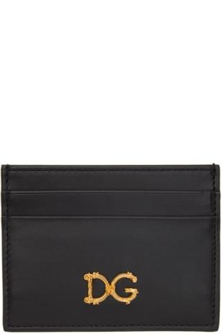 돌체 & 가바나 Dolce & Gabbana Black Baroque DG Card Holder