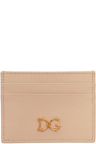 돌체 & 가바나 Dolce & Gabbana Pink DG Card Holder