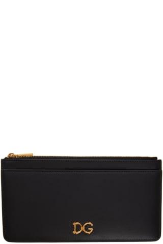 돌체 & 가바나 Dolce & Gabbana Black Large DG Logo Card Holder
