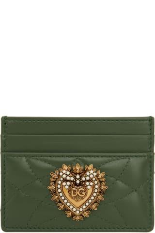 돌체 & 가바나 Dolce & Gabbana Green Devotion Card Holder