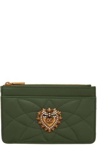 돌체 & 가바나 Dolce & Gabbana Green Small Devotion Card Holder