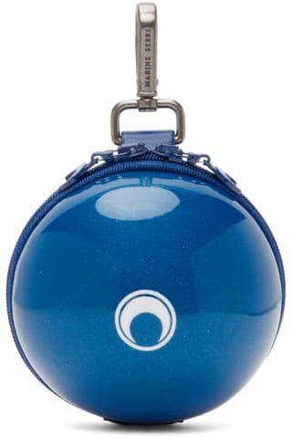 마린세르 Marine Serre Blue Micro Ball Bag,Dark sapphire