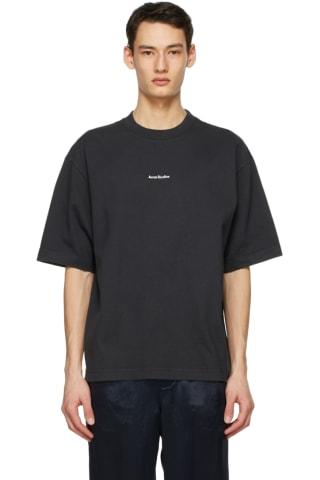 아크네 스튜디오 Acne Studios Black Printed T-Shirt