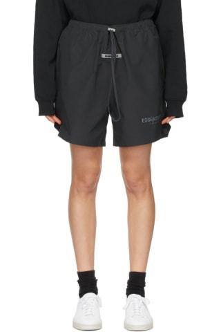 피어오브갓 에센셜 우먼 트랙 반바지 (20210115 드랍 캘리포니아 윈터) Essentials Black Volley Shorts