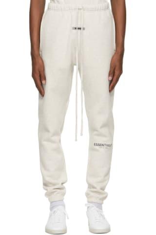 피어오브갓 에센셜 플리스 팬츠 (20210115 드랍 캘리포니아 윈터) Essentials Grey Fleece Lounge Pants,Oatmeal