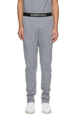 피어오브갓 에센셜 저지 라운지 팬츠 - 그레이 Essentials Grey Jersey Lounge Pants,Dark heather