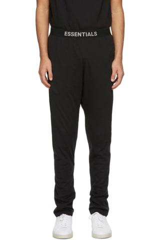 피어오브갓 에센셜 저지 라운지 팬츠 - 블랙 Essentials Black Jersey Lounge Pants