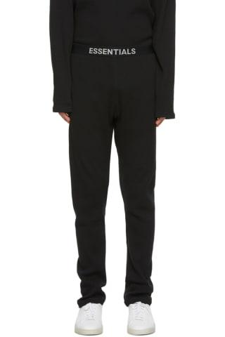 피어오브갓 에센셜 더말 라운지 팬츠 - 블랙 Essentials Black Thermal Lounge Pants