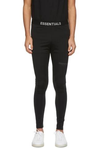 피어오브갓 에센셜 애슬레틱 레깅스 - 블랙 Essentials Black Athletic Leggings