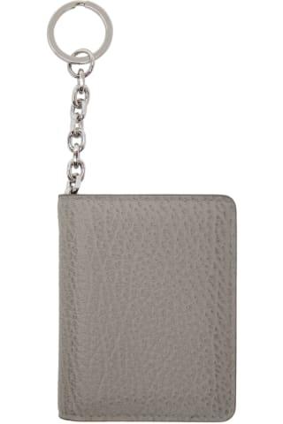 메종 마르지엘라 Maison Margiela   Grey Keychain Card Holder,Smoke