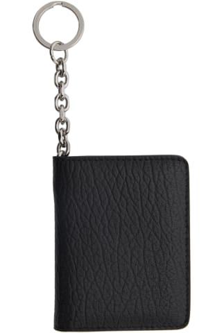 메종 마르지엘라 Maison Margiela Black Bifold Keychain Card Holder