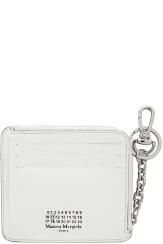 메종 마르지엘라 Maison Margiela White Keychain Card Holder