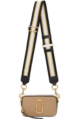 Marc Jacobs Beige & Green The Snapshot Bag