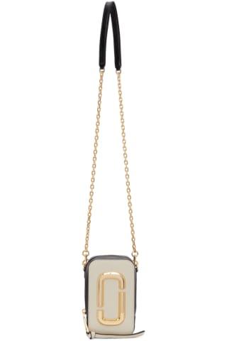 Marc Jacobs Beige & Black The Hot Shot Bag