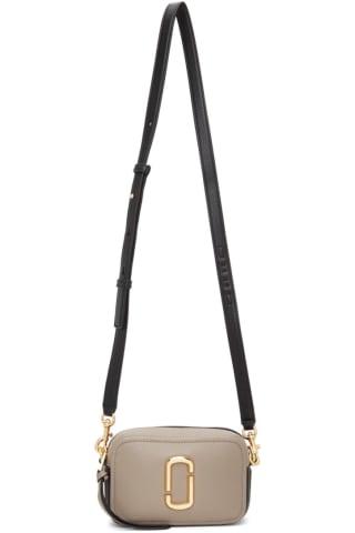 Marc Jacobs Taupe & Black The Softshot 17 Bag