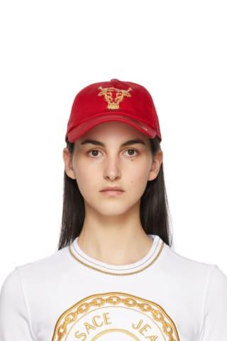 베르사체 Versace Jeans Couture Red Baroque Bull Cap